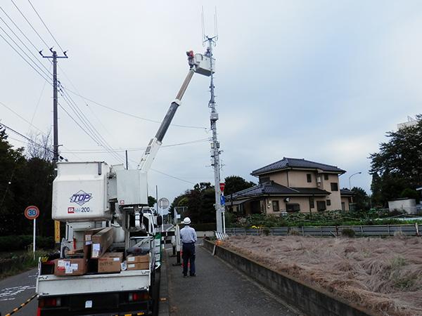 モバイルアンテナ支柱設置工事02