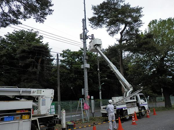 モバイルアンテナ支柱設置工事04