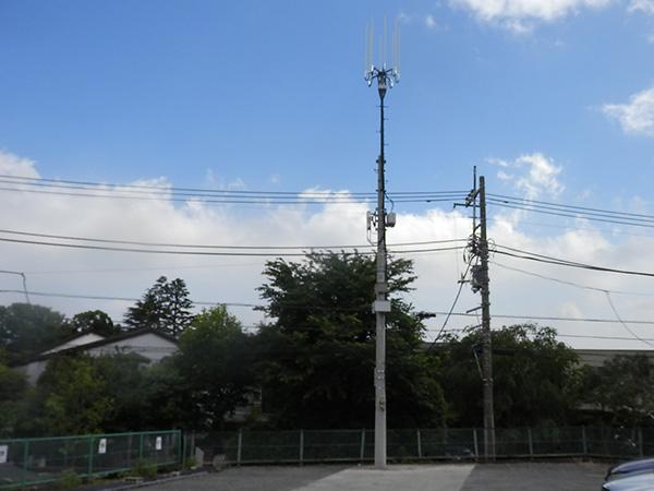モバイルアンテナ支柱設置工事06