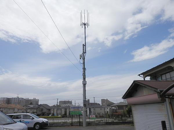モバイルアンテナ支柱設置工事07