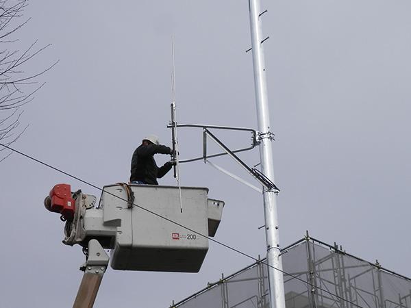 防災無線支柱設置工事06
